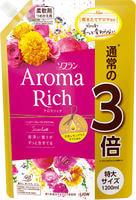 """Lion """"Soflan Aroma Rich Scarlet"""" Кондиционер для белья с богатым ароматом натуральных масел, сменная упаковка, 1200 мл."""