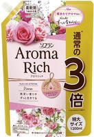 """Lion """"Soflan Aroma Rich Diana"""" Кондиционер для белья с богатым ароматом натуральных масел, сменная упаковка, 1200 мл."""