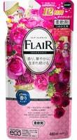 """KAO """"Flare Floral & Suite"""" Кондиционер-смягчитель для белья со свежим цветочным ароматом, сменная упаковка, 480 мл."""