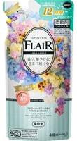 """KAO """"Flair Fragrance Flower & Harmony"""" Кондиционер-смягчитель для белья с ароматом чистой цветочной гармонии, сменная упаковка, 480 мл."""