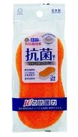 KOKUBO Губка для ванной с двойным антибактериальным эффектом (серебро и устрица), размер: 205*85*45 мм.