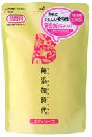 "REAL ""Mutenka Jidai Body Soap"" Жидкое мыло для тела, без добавок, сменная упаковка, 400 мл."