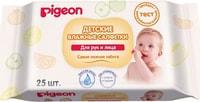 PIGEON Влажные салфетки детские, для рук и рта, пустышек, игрушек, 25 шт.