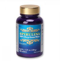 "Japan Algae ""Spirulina 100% Deep Ocean Water"" Спирулина глубоководная 100%, 300 таблеток по 500 мг.."