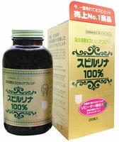 "JAPAN ALGAE ""Spirulina 100%"" Спирулина 100%, стеклянная банка, 2200 таблеток по 200 мг.."