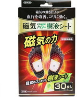 """TO-PLAN """"Power Sap Sheet"""" Маска-пластырь для ног с постоянным магнитом и бамбуковым уксусом - выведение шлаков и токсинов, улучшение кровообращения, 30 шт."""
