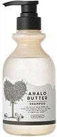 """Cosme Company """"Ahalo Butter Shampoo Rich Moist"""" Увлажняющий пенный шампунь с тропическими маслами и кленовым сиропом, без сульфатов и силикона, 500 мл."""