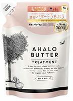 """Cosme Company """"Ahalo Butter Treatment Rich Moist"""" Восстанавливающий бальзам-ополаскиватель с тропическими маслами, йогуртом и мёдом, без сульфатов, сменная упаковка, 400 мл."""