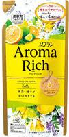 "Lion ""Soflan Aroma Rich Belle"" Кондиционер для белья с богатым ароматом натуральных масел, сменная упаковка, 400 мл."