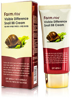 "FarmStay ""Visible Difference Snail BB Cream SPF50+/PA+++"" Крем с муцином улитки SPF50/PA+++, 50 гр."