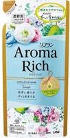"""Lion """"Soflan Aroma Rich Sarah"""" Кондиционер для белья с богатым ароматом натуральных масел, сменная упаковка, 400 мл."""