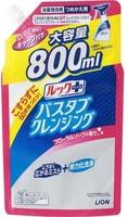 LION «Look» Чистящее средство для ванной, с ароматом цветочного мыла, запасной блок, 800 мл.