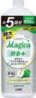 """LION """"Charmy Magica"""" Средство для мытья посуды, концентрированное, с ароматом зеленого яблока, сменная упаковка, 950 мл."""