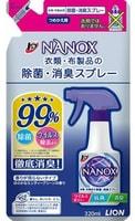 """LION """"Top Nanox"""" Дезинфицирующий и дезодорирующий спрей для одежды и изделий из ткани, сменная упаковка, 320 мл."""