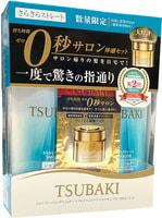 "SHISEIDO ""Tsubaki Smooth"" Набор разглаживающий: Шампунь, 315 мл. + Кондиционер, 315 мл. + Маска для волос 15 гр., с маслом камелии."