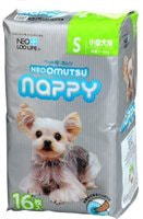"Neo Loo Life ""Neoomutsu"" Подгузники для собак (девочки), размер S (3-6 кг.), 16 шт."