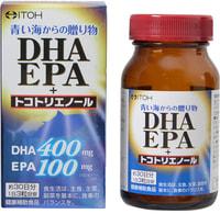"Itoh Kanpo Pharmaceutical ""DHA, EPA + Tokotrienol - Омега 3 + токотриенол"", 90 капсул."
