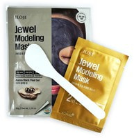 """Konad """"Jewel Modeling Mask Aurora Black Pearl"""" Моделирующая маска для лица с черным жемчугом, 1 шт./уп.: гель – 50 гр; пудра – 5 гр. + лопатка."""