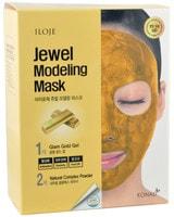 "Konad ""Jewel Modeling Mask Glam Gold"" Моделирующая маска для лица с частицами золота, 5 шт/уп: гель – 50 гр.; пудра – 5 гр. + лопатка."