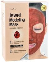 "Konad ""Jewel Modeling Mask Scarlet Ruby"" Моделирующая маска для лица с рубиновой пудрой, 5 шт/уп: гель – 50 гр.; пудра – 5 гр. + лопатка."