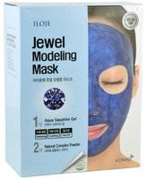 """Konad """"Jewel Modeling Mask Aqua Sapphire"""" Моделирующая маска для лица с сапфировой пудрой, 5 шт/уп: гель – 50 гр.; пудра – 5 гр. + лопатка."""