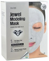 """Konad """"Jewel Modeling Mask Dia Blanc"""" Моделирующая маска для лица с алмазной пудрой, 5 шт/уп: гель – 50 гр.; пудра – 5 гр. + лопатка."""