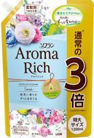 """Lion """"Soflan Aroma Rich Sarah"""" Кондиционер для белья с богатым ароматом натуральных масел, сменная упаковка, 1200 мл."""