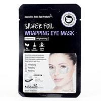 """MBeauty """"Silver Foil Wrapping Eye Mask"""" Восстанавливающие серебряные фольгированные патчи с витамином С, 1 пара."""