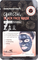 "MBeauty ""Charcoal Black Face Mask"" Восстанавливающая тканевая детокс-маска для лица с древесным углем, 1 шт."