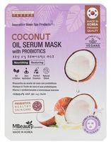 """MBeauty """"Coconut Oil Serum Mask With Probiotics"""" Маска тканевая с кокосовым маслом и пробиотиками, 1 шт."""