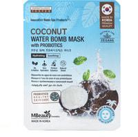 "MBeauty ""Coconut Water Bomb Mask With Probiotics"" Маска тканевая с кокосовой водой и пробиотиками, 1 шт."
