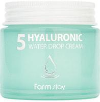 """FarmStay """"Hyaluronic 5 Water Drop Cream"""" Крем для лица суперувлажняющий с гиалуроновым комплексом, 80 мл."""