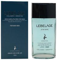 """Lebelage """"Collagen+Green Tea For Men Skin"""" Увлажняющий тонер для мужчин с коллагеном и зеленым чаем, 150 мл."""