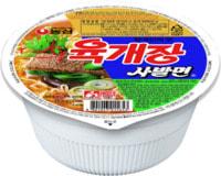 "Samyang ""Bowl noodle soup - Yukgaejang ramen"" Лапша со вкусом гровядины и свинины, 86 гр."