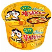"Samyang ""Hot chicken flavor ramen cheese"" Лапша с соусом, вкус острой курицы и сыра, 105 гр."