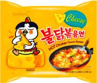 "Samyang ""Hot chicken flavor ramen with cheese"" Лапша со вкусом острой курицы и сыра, 140 гр."
