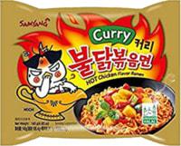 "Samyang ""Hot chicken flavor ramen Carri"" Лапша со вкусом острой курицы и карри, 140 гр."