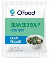 """Daesang """"Seaweed soup - Clam flavor"""" Суп быстрогро пригротовления со вкусом морской капусты и моллюсков, 12 пакетиков по 8 гр."""