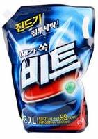 """CJ Lion """"Beat"""" Жидкое средство для ручной и автоматической стирки, мягкая упаковка, 2000 мл."""