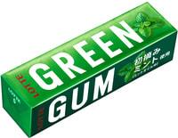 """Lotte """"Green Gum"""" Жевательная резинка со вкусом зеленой мяты, 9 пластинок."""