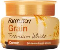 """FarmStay """"Grain Premium White Cream"""" Осветляющий крем с маслом ростков пшеницы, 100 гр."""