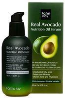 "FarmStay ""Real Avocado Nutrition Oil Serum"" Питательная сыворотка с маслом авокадо, 100 мл."