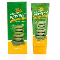 "FarmStay ""Aloevera Perfect Sun Cream SPF 50+/PA+++"" Солнцезащитный крем SPF 50+/PA+++, 70 гр."