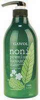 "Juno Cosmetics ""Gawol Noni Premium Hanaro Hair Shampoo and Conditioner"" Увлажняющий шампунь-кондиционер 2-в-1 с экстрактом фрукта нони, 750 мл."