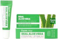 "FarmStay ""Real Aloe Vera Essential Lip Balm"" Суперувлажняющий бальзам для губ с алоэ, 10 мл."