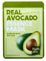 "FarmStay ""Real Avocado Essence Mask"" Тканевая маска для лица с экстрактом авокадо, 1 шт."
