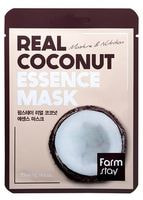 "FarmStay ""Real Coconut Essence Mask"" Тканевая маска для лица с экстрактом кокоса, 1 шт."