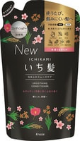 """Kracie """"Ichikami"""" Бальзам-ополаскиватель разглаживающий для поврежденных волос с ароматом горной сакуры, 340 гр, сменная упаковка."""