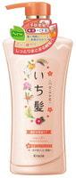 """Kracie """"Ichikami"""" Шампунь интенсивно увлажняющий для поврежденных волос с маслом абрикоса, 480 мл."""