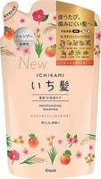 """KRACIE """"Ichikami"""" Шампунь интенсивно увлажняющий для поврежденных волос с маслом абрикоса, 340 мл, сменная упаковка."""